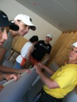 Learning how to hang drywall