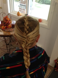 The double french braid as seen in Glamour magazine.