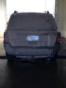 muddy vehicle